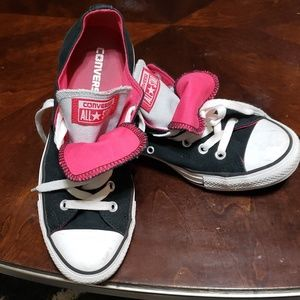 Converse chucks black/hot pink sneakers